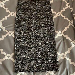 Bcbgeneration black and white midi skirt